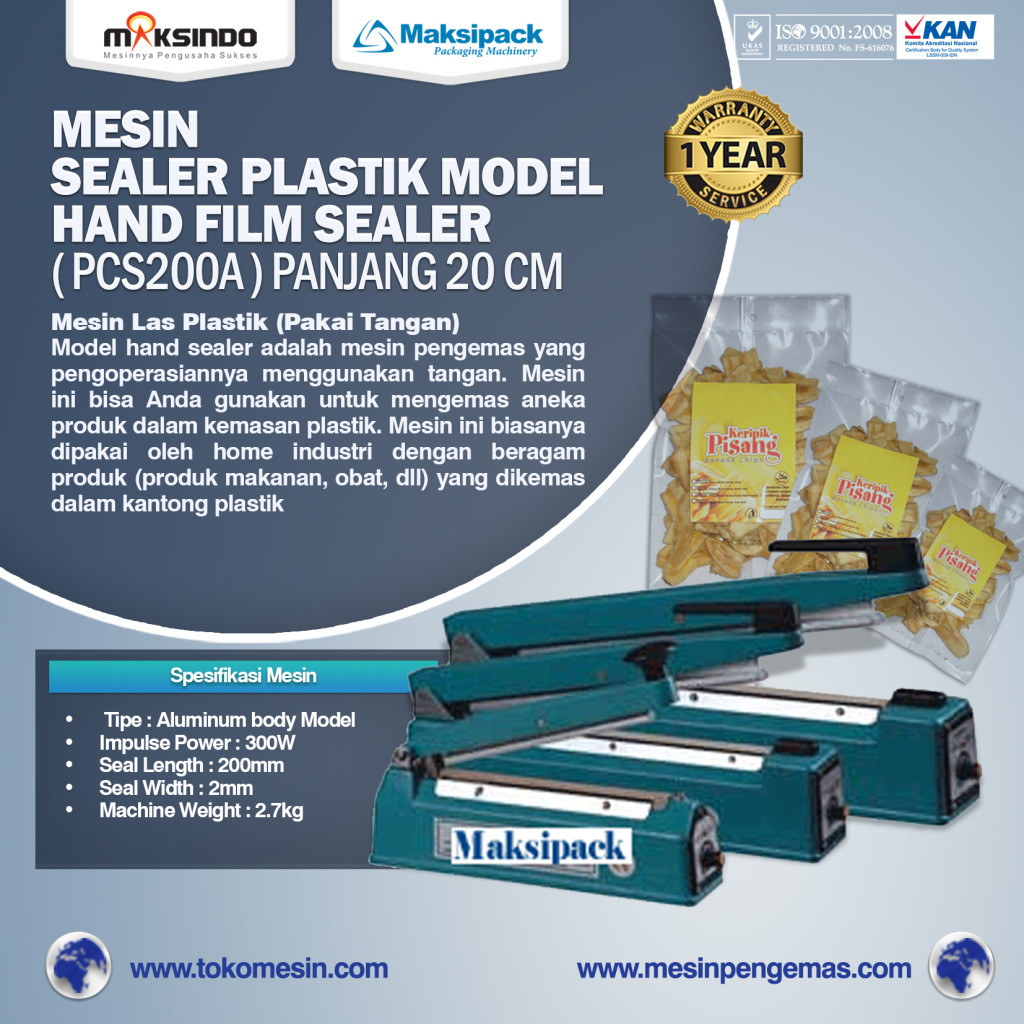 Mesin Sealer Plastik Hand Sealer Tipe PCS200A panjang 20 cm 1024x1024 Mesin Hand Sealer