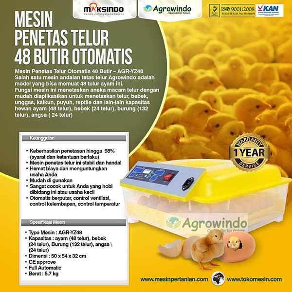 Mesin Penetas telur 48 Butir Mesin Penetas Telur Otomatis 48 Butir – AGR TT48