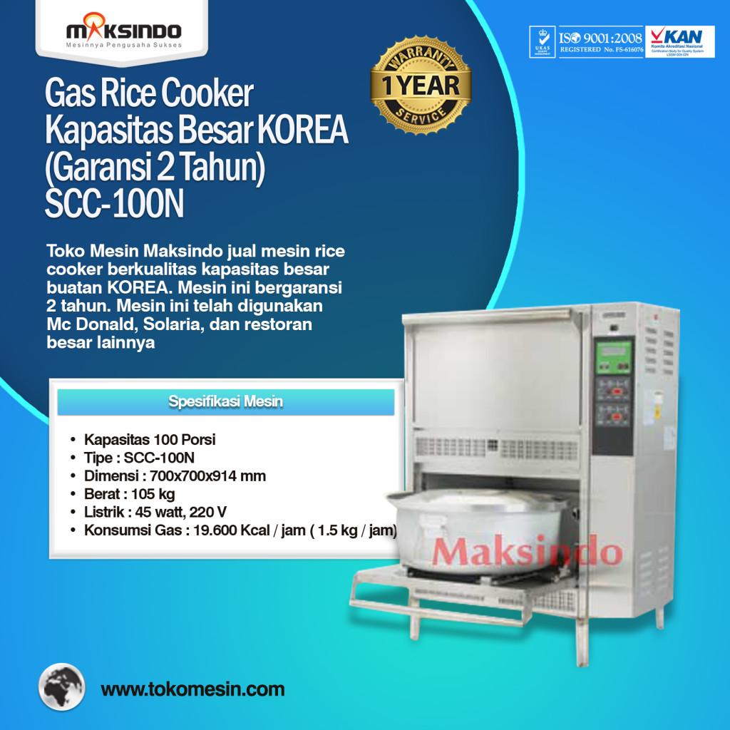 Gas Rice Cooker Kapasitas Besar KOREA SCC 100N 1024x1024 Mesin Rice Cooker Kapasitas Besar