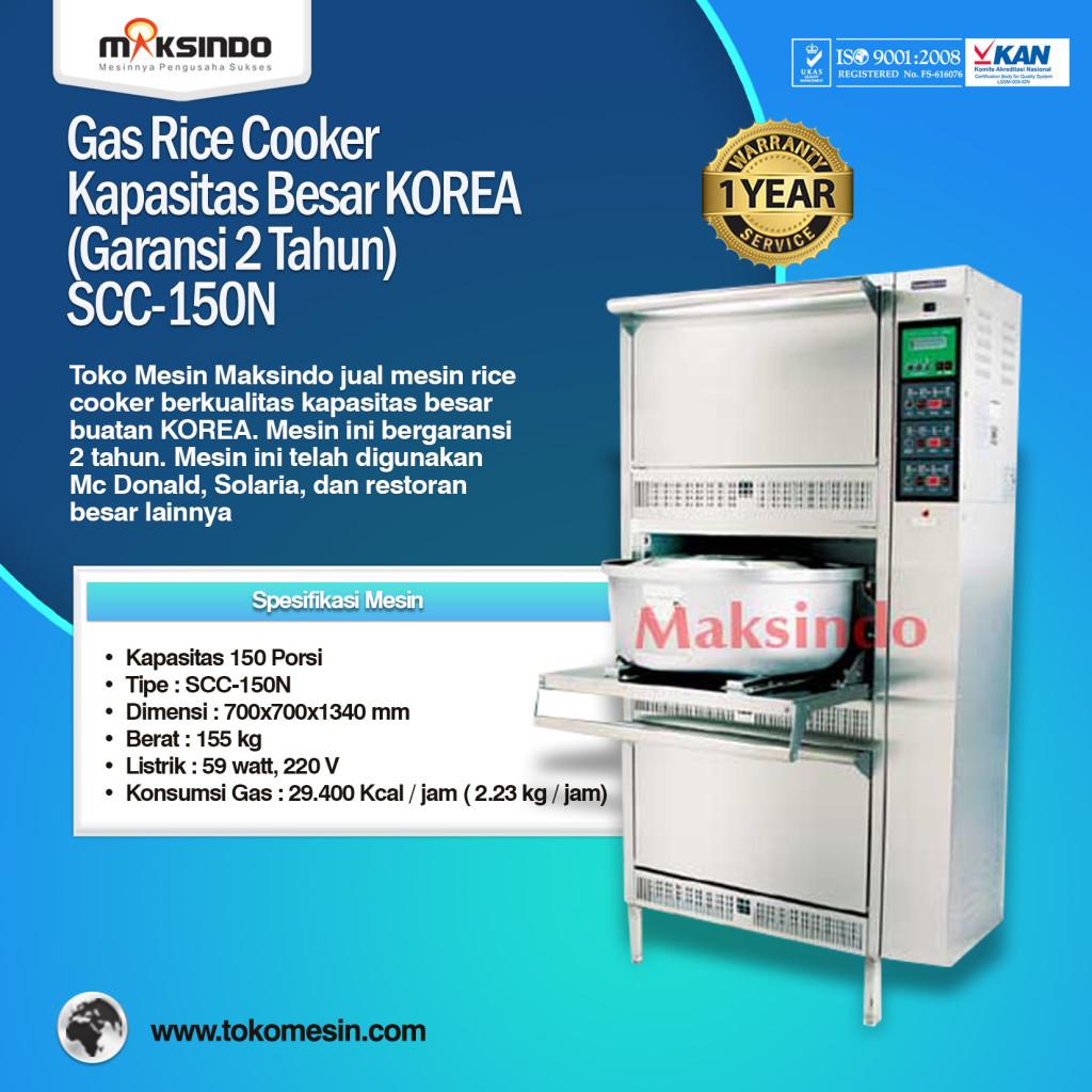 Gas Rice Cooker Kapasitas Besar KOREA SCC 150N 1024x1024 Mesin Rice Cooker Kapasitas Besar