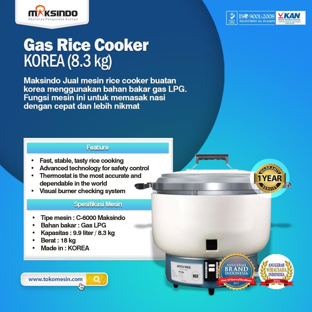 Mesin Gas Rice Cooker KOREA 81 1024x1024 Mesin Rice Cooker Kapasitas Besar