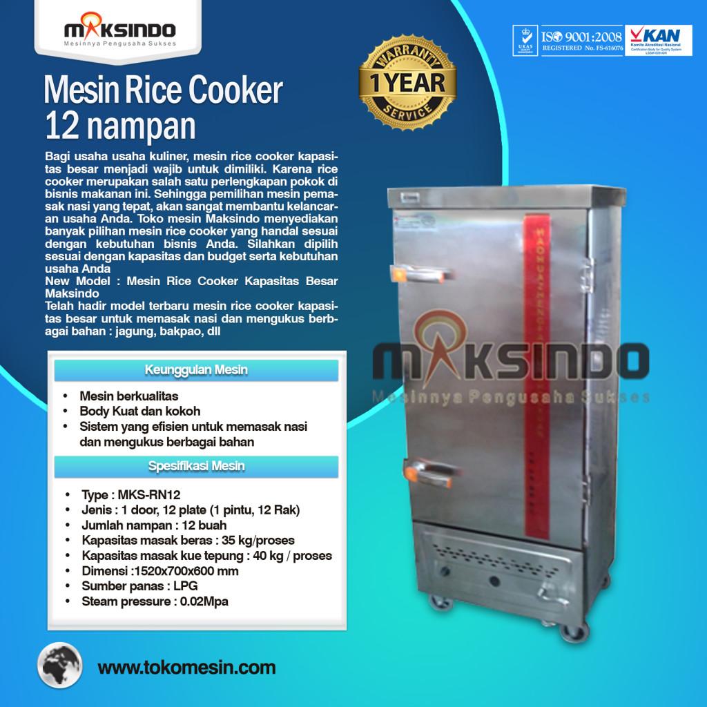 Mesin Rice Cooker Kapasitas Besar MKS RN12 1024x1024 Mesin Rice Cooker Kapasitas Besar