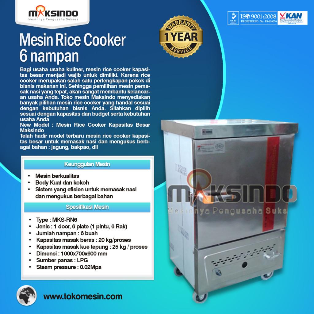 Mesin Rice Cooker Kapasitas Besar MKS RN6 1024x1024 Mesin Rice Cooker Kapasitas Besar