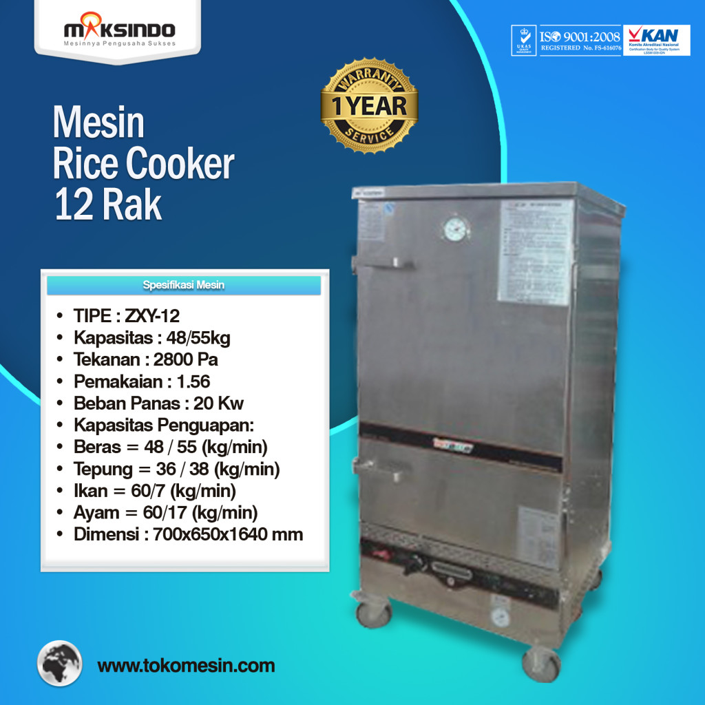 Rice Cooker 12 Rak 1024x1024 Mesin Rice Cooker Kapasitas Besar
