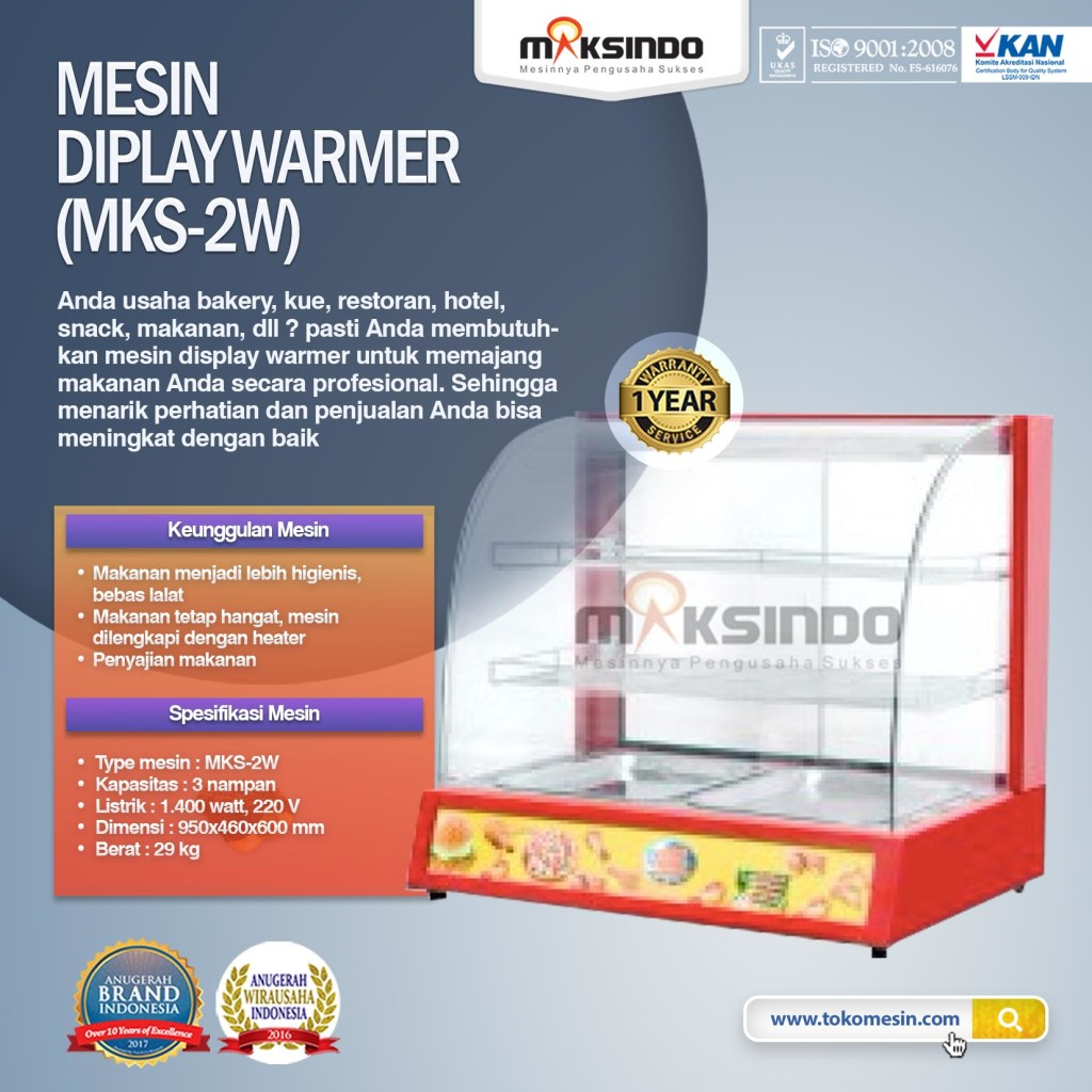 Mesin Diplay Warmer MKS 2W1 1024x1024 Mesin Diplay Warmer (MKS 2W)