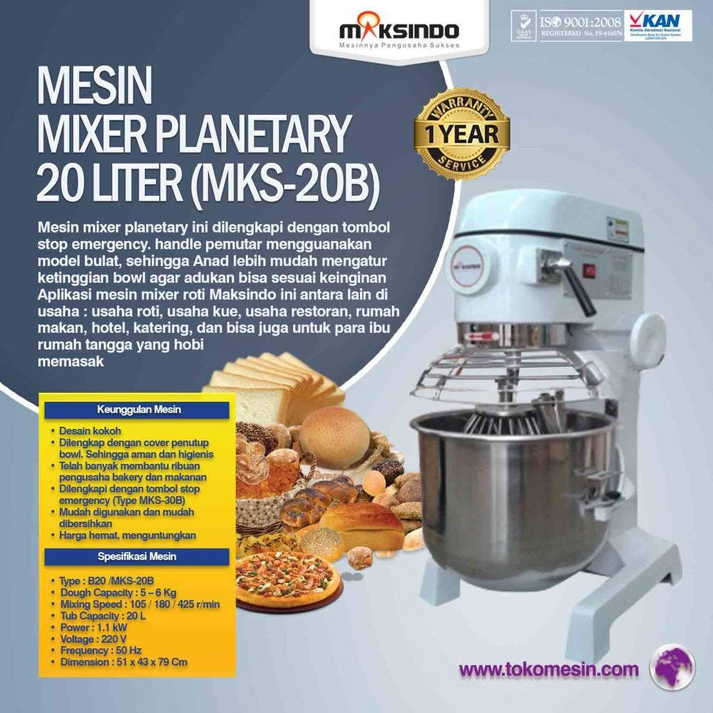 Mesin Mixer Planetary 20 Liter MKS 20B 1024x1024 Mesin Mixer Roti Planetary