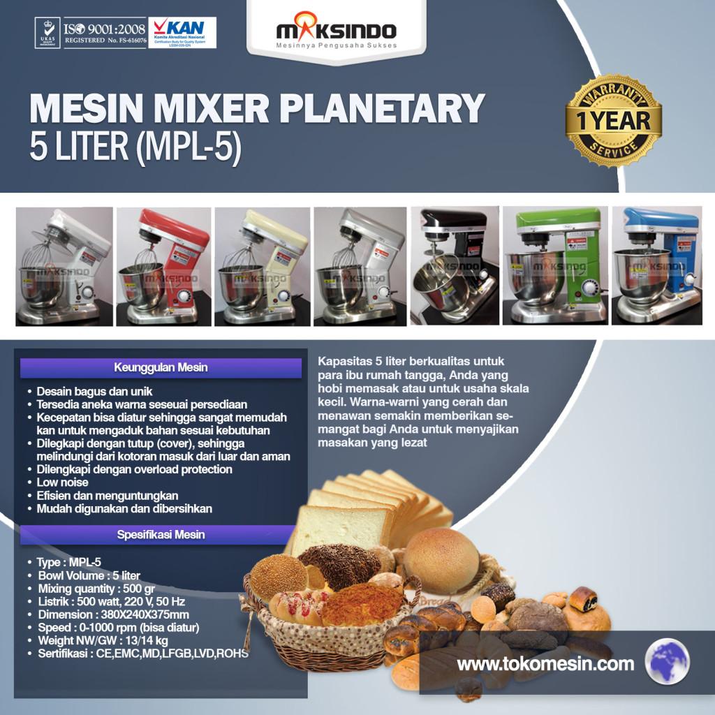 Mesin Mixer Planetary 5 Liter MPL 5 1024x1024 Mesin Mixer Roti Planetary