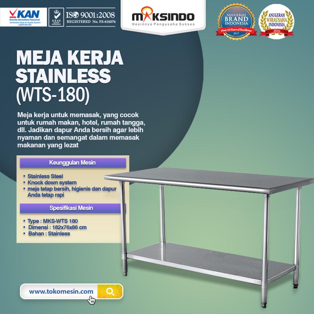 Meja Kerja Stainless WTS 180 1024x1024 Meja Kerja Stainless (WTS 180)