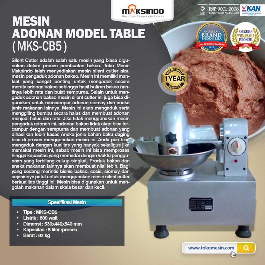 Mesin Adonan Model Table MKS CB5 1024x1024 Mesin Mixer Pencampur Adonan Bakso