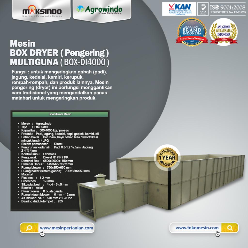 Mesin BOX DRYER Pengering MULTIGUNA BOX DI4000 1024x1024 Mesin Box Dryer Pengering Multiguna