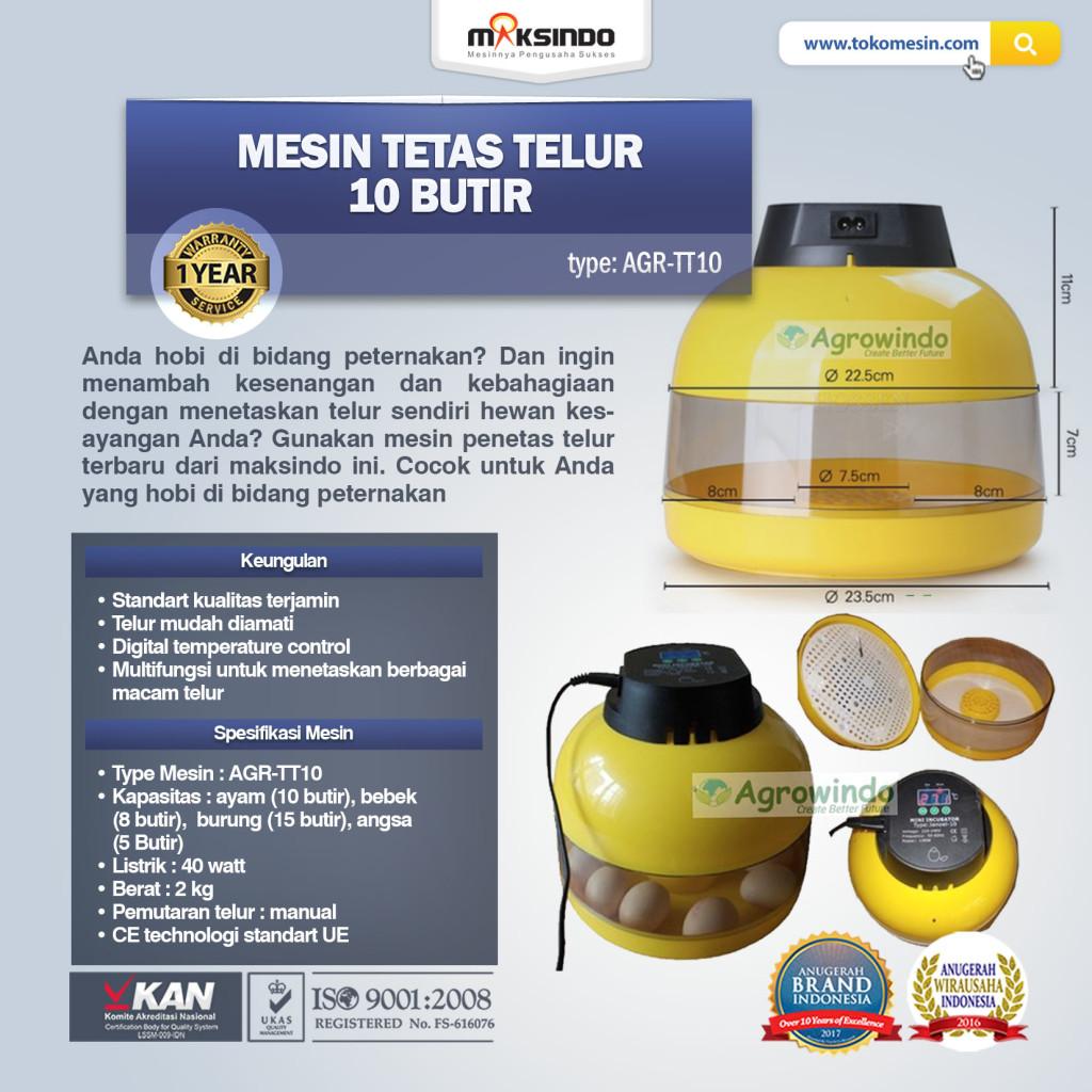 MESIN TETAS TELUR AGR TT101 1024x1024 Mesin Tetas Telur 10 Butir (AGR TT10)