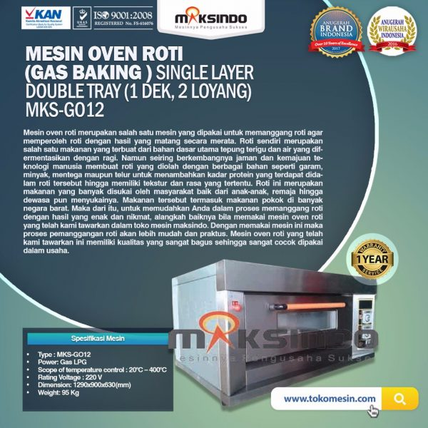 Mesin Oven Gas 2 Loyang MKS GO12 Mesin Oven Gas 2 Loyang (MKS GO12)