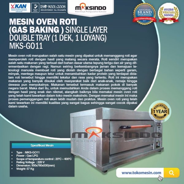 Mesin Oven Roti Gas MKS GO11 Mesin Oven Roti Gas (MKS GO11)