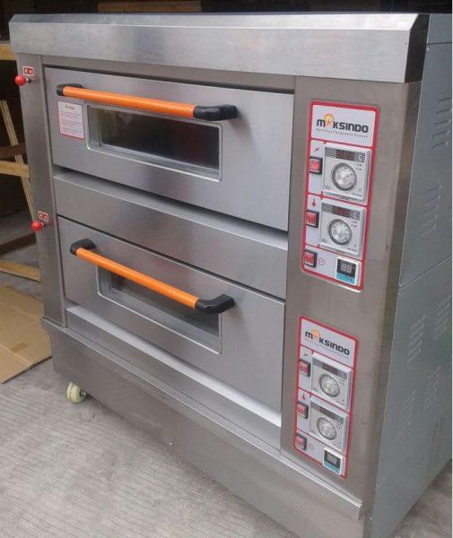 Mesin Oven Roti Gas 2 Rak 4 Loyang GO24 4 Mesin Oven Roti Gas 2 Rak 4 Loyang (GO24)