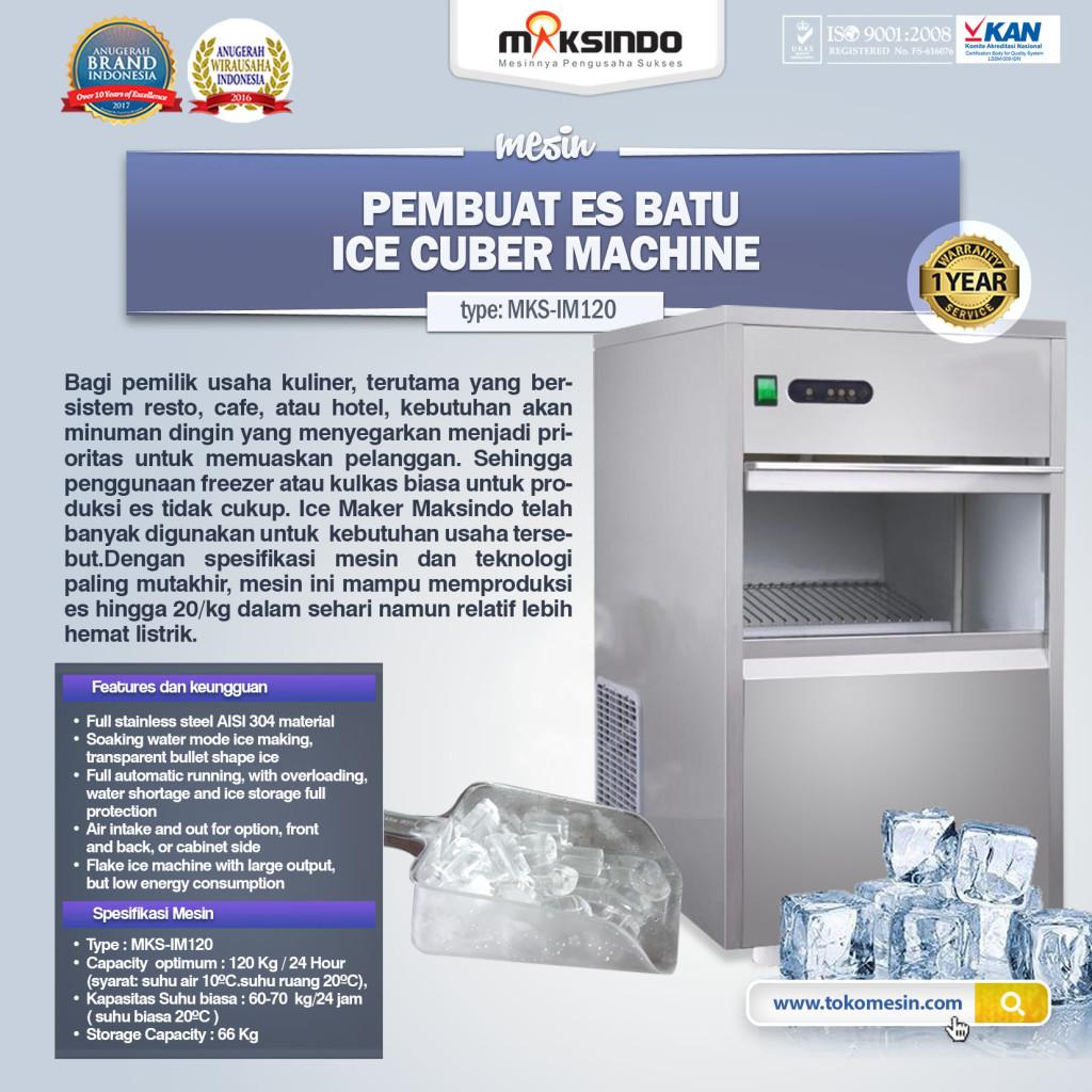 mesin ice tube MKS IM 120 1024x1024 Mesin Ice Tube (Es Batu Kristal)   IM120