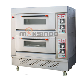 Mesin oven gas 2 Mesin Oven Roti Gas 4 Loyang (MKS RS24)